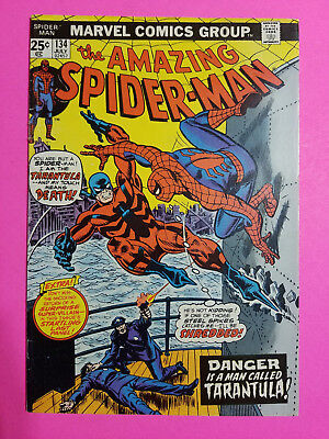 Amazing Spider-Man #134 1st App Tarantula Marvel Comics Book VF+ (8.5)