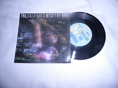 "the creatures miss the girl 7"" record punk new wave gothic"
