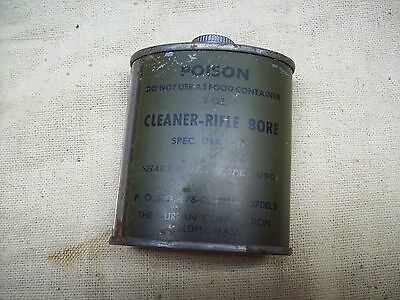 Vintage Wwii Us Army Gi Rifle Bore Cleaner Can