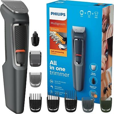 Philips MG3747/13 Multigroom 9-in-1 Face Body Hair Nose Clipper Trimmer Grooming