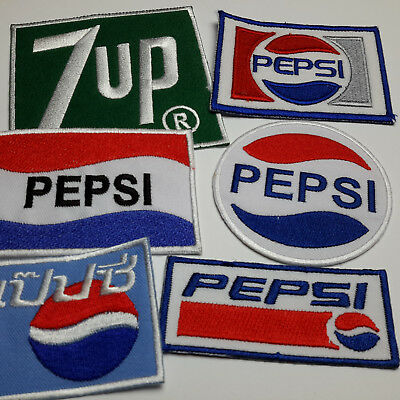 "PEPSI COLA ""Pepsi"" Patches - Embroidered IRON-ON PATCH Store - NEW!"