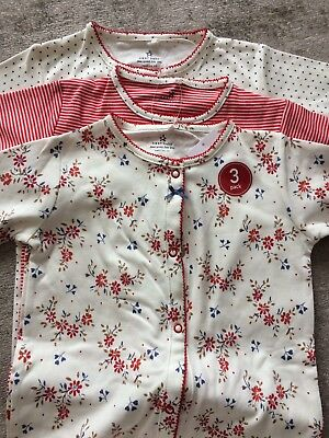 Next Baby Girls Baby Grows Sleepsuits Size 1.5-2Yrs 3 Pack