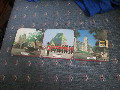Brand New Vintage Set Of (6) Canada Souvenir Photo Coasters