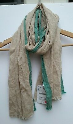 Zara Kids Scarf Boys Girls Cotton Linen Brand New With Tags