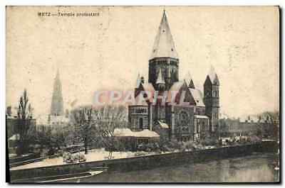 CPA Temple protestant Metz