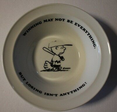 Vintage 1950's Schulz Charlie Brown Peanuts Bowl United Feature Syndicate Inc