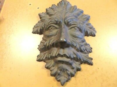 """Cast Metal Mask Wall Hanging - 10"""" x 7"""" - Tree Person??"""