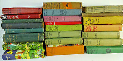 Lot of 10 ANTIQUE VTG Hardcover Old Vintage Books Collection Set UNSORTED MIXED