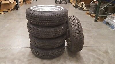 1978 Vw Bus Type 2 Wheels And 195/75R14 Tires Mounted With Spare. (Sold As Set)