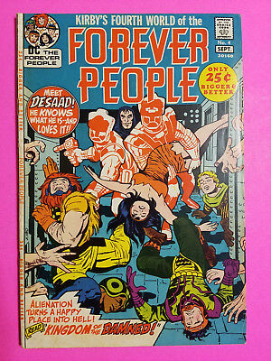 Forever People #4  DC Comics Book FN/VF (7.0) Jack Kirby Cover Art & Story