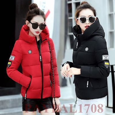 NEW Winter Women's Short Down Cotton Parka Hooded  Collar Coat Quilted Jacket