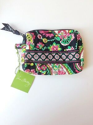 NWT Vera Bradley Travel SMALL Cosmetic Bag In Petal Paisley