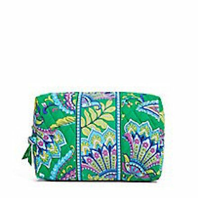 NWT Vera Bradley Travel LARGE Cosmetic Bag In Emerald Paisley