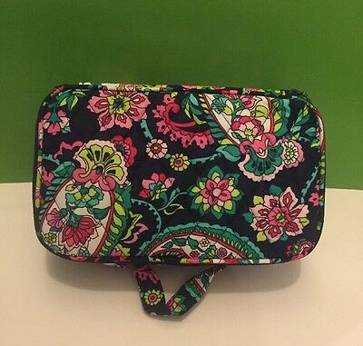NWT Vera Bradley Blush And Brush Makeup Case In Petal Paisley