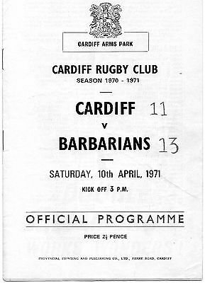 Apr 72 CARDIFF v BARBARIANS