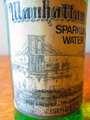 VIntage RARE '80-'84 MANHATTAN WATER SPARKLING WATER 7oz. FULL w/Twist Cap