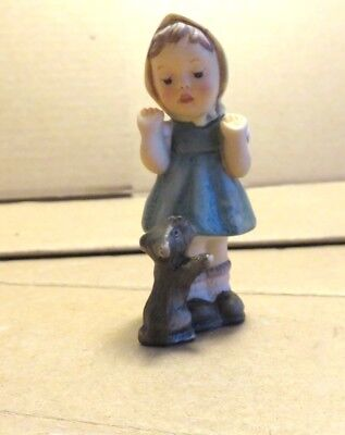 Goebel Berta Hummel Figurine - Girl With Scottie Dog - 1999