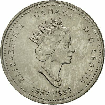[#423882] Canada, Elizabeth II, 25 Cents, QUEBEC, 1992, Royal Canadian Mint