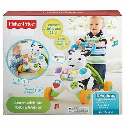 NEW Fisher-Price Learn With Me Zebra Walker Age: 3 � 36 months