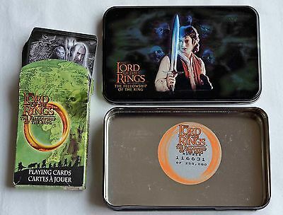 Lord of the Rings Playing Cards & Limited Edition Tin Box Only one complete deck