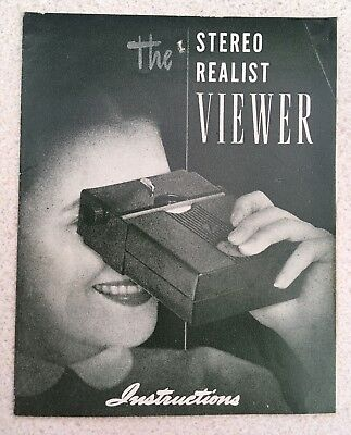 Stereo Realist Viewer Instructions