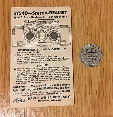 Stereo Realist ST540 Type A Flash Guide