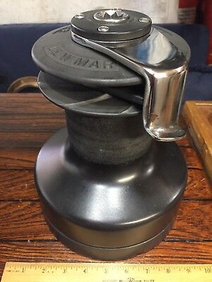 """Large Lightly Used Lewmar 52St  Self Tailing 2 Speed Winch 10"""" Tall"""