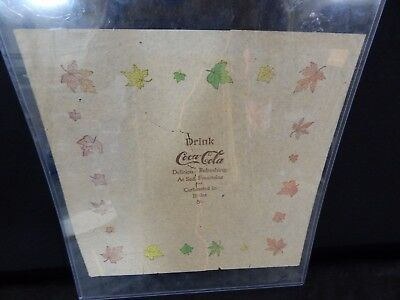 Coca-Cola Rice Paper Napkins CIRCA 1900 VINTAGE ANTIQUE OLD STORE