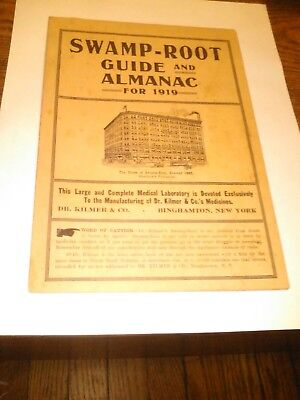 1919 Swamp Root Guide Almanac Dr Kilmer