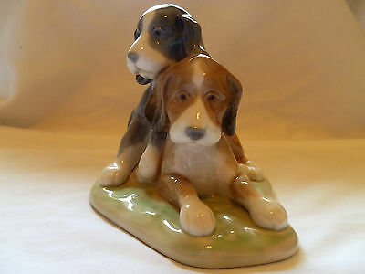 Nao by Lladro Pair of Puppy Dogs Figurine