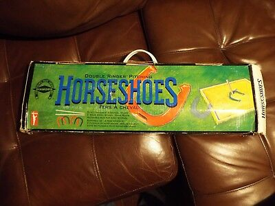 Vintage Diamond Double Ringer Horse Shoe Set With Posts