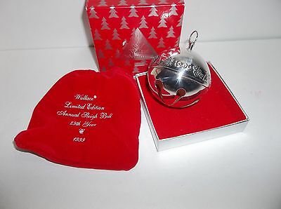 Wallace Silver Plated SLEIGH BELL 1999 With Box And Pouch