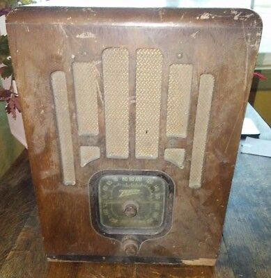 Vintage Antique Wood Zenith Tube Radio Dial N532010 working condition! Table Top