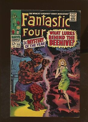 Fantastic Four 66 FN+ 6.5 * 1 Book* What Lurks Behind the Beehive? by Lee Kirby!