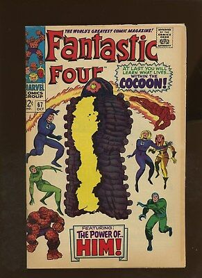 Fantastic Four 67 FN+ 6.5 * 1 Book * 1st Full HIM!!! Stan Lee & Jack Kirby!!!
