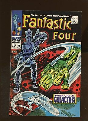 Fantastic Four 74 VF 7.5 * 1 Book Lot * Silver Surfer! Galactus! Lee & Kirby!