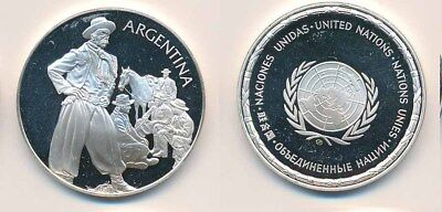 Argentina: Horseman 12.9g 925 Silver Proof Medal (32mm), UN Countries