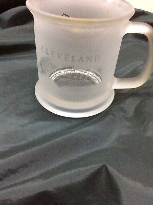 cleveland indians frosted coffee mug