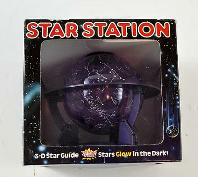 Vintage Star Station 3D Star Guide Globe Glows in the Dark
