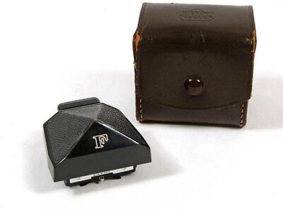 Vintage NIKON F Eyelevel Prism Finder, Black w/ Diopter Threads, & Case