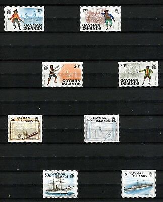 Cayman Islands  ** 8 Mnh Stamps ** 1975 - 1989