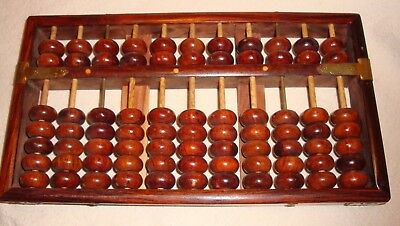 Vintage Chinese Rosewood 77 Beads Abacus