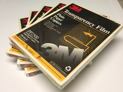 3M Transparency Film for Plain Paper Copiers PP2500 5 boxes of 100 sheets  New