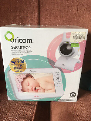 Oricom Secure910 Baby Video Monitor Complete with Box and Instructions