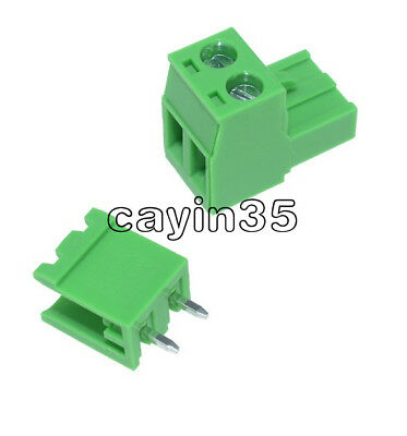 10PCS KF2EDGK KF-2P 2PIN Right Angle Plug-in Terminal Connector 5.08mm Pitch UK