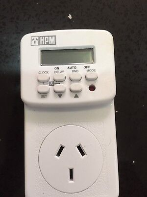 HPM Digital Electrical Powerpoint Power Point 7 Day Timer with Battery Back-up.