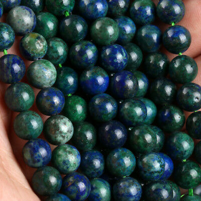 Natural Gemstone Round Lapis Chrysocolla Spacer Loose Bead 4 6 8 10 12mm Stones