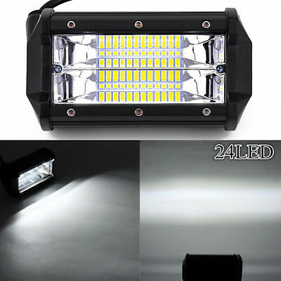 "Car 5"" 72W White LED Work Light Bar Flood Driving Lamp Jeep Truck Boat Off-road"