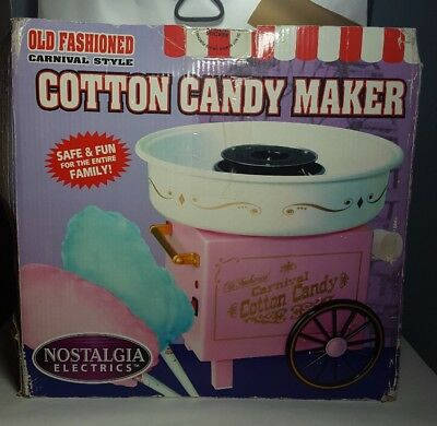 NOSTALGIA Cotton Candy Machine Maker Kids Party Carnival Sugar Free Home Floss