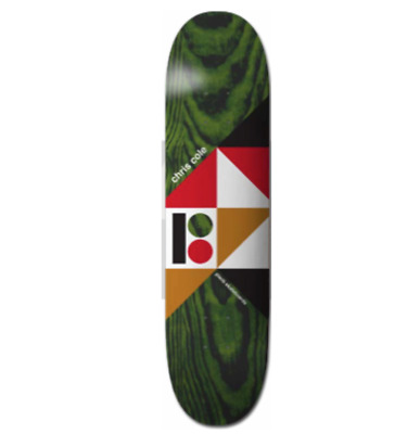 "Plan B Geometrics Series Chris Cole 8.25"" Skateboard Deck"